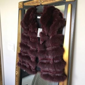 Tory Burch fur vest
